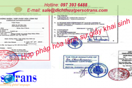 hợp pháp hóa lãnh sự giấy khai sinh