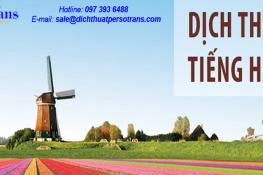 Bảng báo giá dịch thuật tiếng Hà Lan