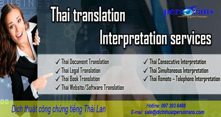 Dịch công chứng tiếng Thái Lan uy tín, chất lượng tại PERSOTRANS