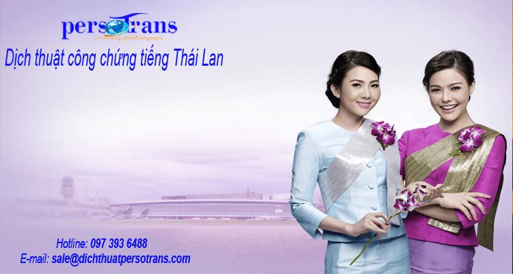 Dịch vụ dịch công chứng tiếng Thái Lan tại PERSOTRANS