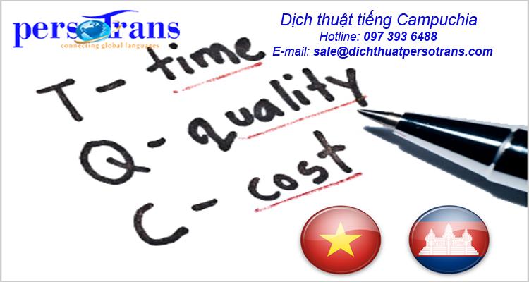 Các tiện ích của dịch vụ dịch thuật tiếng Campuchia tại PERSOTRANS