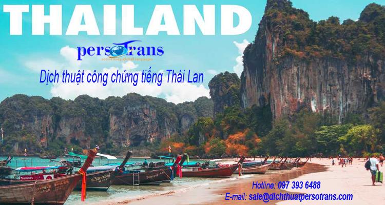 Vài nét về giá dịch công chứng tiếng Thái Lan