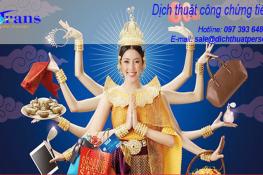 giá dịch thuật công chứng tiếng Thái Lan