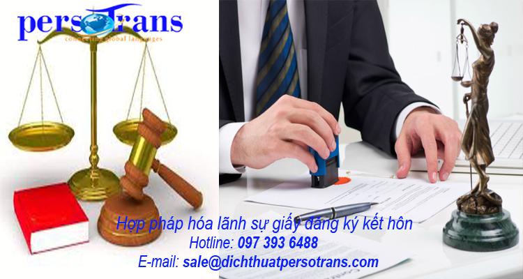 Hợp pháp hóa lãnh sự giấy đăng ký kết hôn tại Persotrans