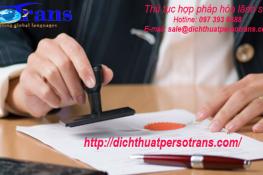 Thủ tục hợp pháp hóa lãnh sự tại Hà Nội