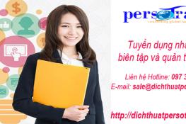 Tuyển dụng nhân viên biên tập và quản trị website