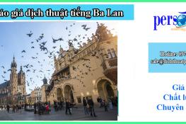 bảng giá dịch thuật tiếng ba lan