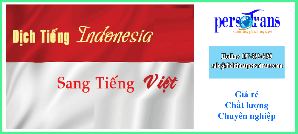 dịch thuật tiếng indonesia