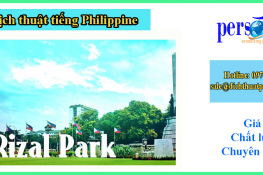 dịch thuật tiếng philippine tại tpHCM