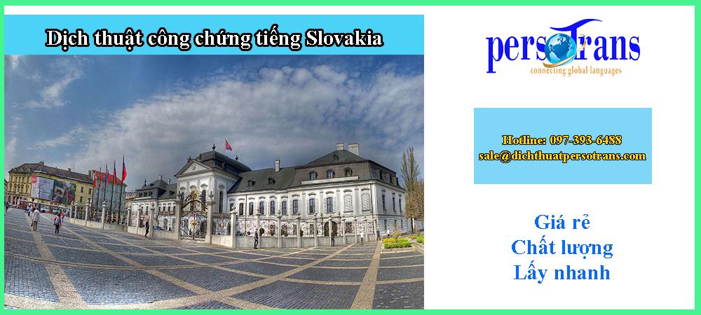 dịch thuật công chứng tiếng slovakia