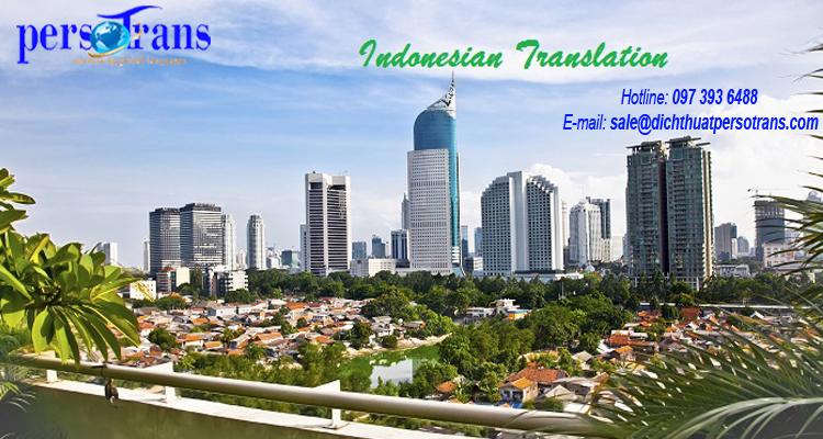 Dịch thuật tiếng Indonesia tại Hà Nội